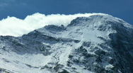 Stock Video Footage of Rugged Slopes of Eiger, Switzerland
