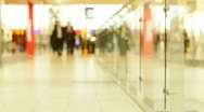 Shopping mall interior 3 Stock Footage