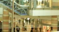Shopping mall interior 1 Stock Footage