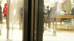 Revolving door 2 - stock footage