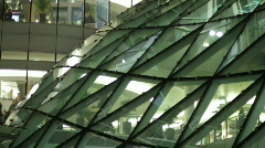 Modern store with glass roof Stock Footage