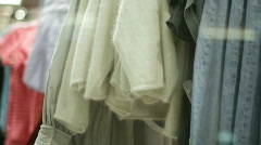 Clothes on hangers  Stock Footage