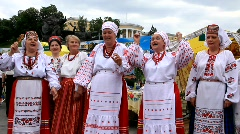 Ukrainian folk song  Stock Footage