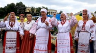 Stock Video Footage of Ukrainian folk song