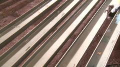 Industrial steel painting Stock Footage