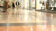 Shoppers in the mall - slow motion Stock Footage