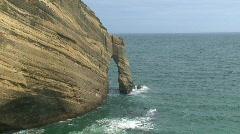 Golden bay, Farewell split, New-Zealand - stock footage