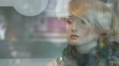 Shopfront dummy - close-up - stock footage