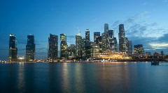 Stock Video Footage of Singapore night scene timelapse video