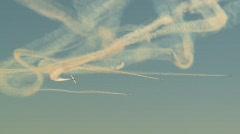 aircraft, Snowbirds Demonstration Team in flight - stock footage