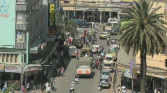 Crowds and traffic on the streets of Nairobi, Kenya. Stock Footage