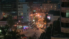 A night view of the streets of Nairobi, Kenya. Stock Footage