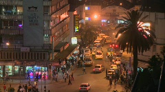 Night time in Nairobi, Kenya. Stock Footage