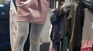 Stock Video Footage of Woman shopping for clothes