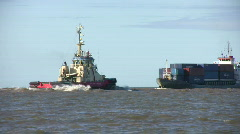 Industry Ships Passing Stock Footage