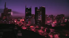 The skyline of Nairobi, Kenya at night. Stock Footage