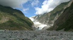 Franz Jozef Glacier Southern island, New-Zealand Stock Footage