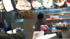 Fastfood restaurant 1 Stock Footage