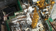 Tall building construction aerial Stock Footage