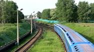 Blue train Stock Footage