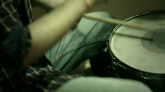 Hands of  drummer Stock Footage