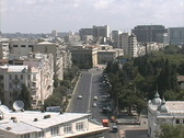 Stock Video Footage of Azerbaijan Baku main street