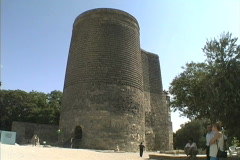 Azerbaijan Baku Maiden's Tower Stock Footage