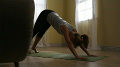 woman doing yoga - stock footage
