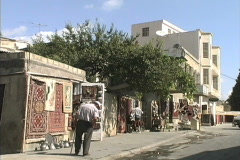 Azerbaijan Rug sales Baku Stock Footage