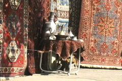 Azerbaijan Carpet display Baku Stock Footage