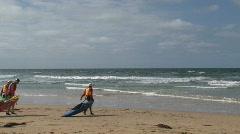 Great ocean road watersport at the coast - stock footage