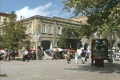 Azerbaijan Shopping street Baku Stock Footage