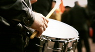 Hands of the drummer Stock Footage