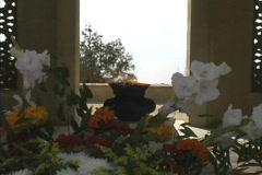 Azerbaijan Eternal flame and flowers Stock Footage