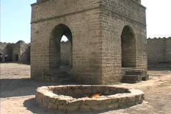 Azerbaijan Zoroastrian flame in pit Stock Footage