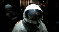 Stock Video Footage of Spacesuit in display in The Memorial Museum of Cosmonautics