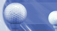 Golf in Blue Looping Animated Background  Stock Footage