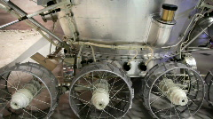Russian moon probe in The Memorial Museum of Cosmonautics Stock Footage