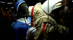 Spacesuit in The Memorial Museum of Cosmonautics. Stock Footage