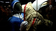 Stock Video Footage of Spacesuit in The Memorial Museum of Cosmonautics.
