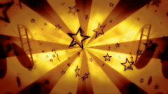 Film Rolls Stars Looping Animated Background  Stock Footage