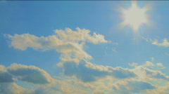 Timelapse from blue to cloudy sky - stock footage