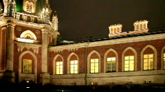 Grand Palace after the restoration in Tsaritsino, Moscow Stock Footage