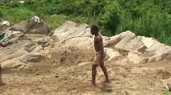 Malawi: african boys show 2 Stock Footage