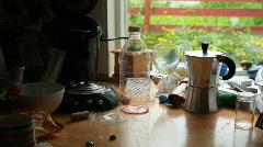 Kitchen Shelf Mess Stock Footage