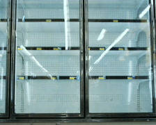 Empty shelves at grocery store Stock Footage