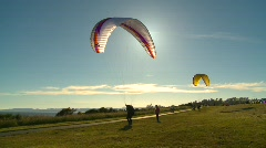Fitness, para sailer, #5 on the ground Stock Footage