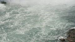 Water below the Falls. Stock Footage