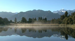 Lake matheson, New-Zealand Stock Footage