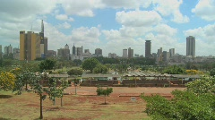 A good wide shot of the city of Nairobi, Kenya. Stock Footage